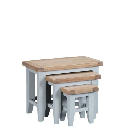 Toulouse Grey Nest of 3 Tables